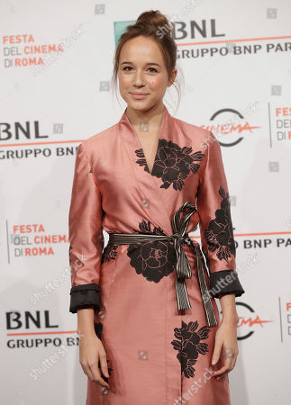 """Stock Picture of Actress Marina Occhionero poses during the photo call of the movie """"L' eta' Imperfetta"""", at the 12th edition of the Rome Film Fest, in Rome"""