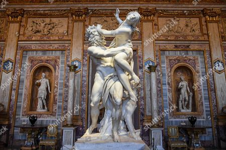 The sculpture entitled 'The Rape of Proserpina' by Gian Lorenzo Bernini is on display at the 'Bernini' exhibition at Galleria Borghese in Rome, Italy, 30 October 2017. The show opens to the public from 01 November 2017 to 04 February 2018.