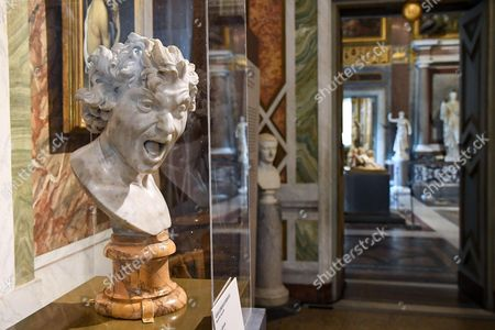 The sculpture entitled 'Damned Soul' by Gian Lorenzo Bernini is on display at the 'Bernini' exhibition at Galleria Borghese in Rome, Italy, 30 October 2017. The show opens to the public from 01 November 2017 to 04 February 2018.