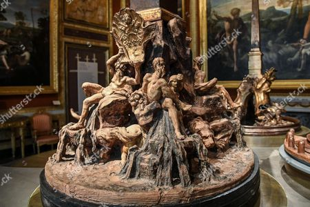 The sculpture entitled 'Four Rivers Fountain' (in Navona Square) by Gian Lorenzo Bernini is on display at the 'Bernini' exhibition at Galleria Borghese in Rome, Italy, 30 October 2017. The show opens to the public from 01 November 2017 to 04 February 2018.