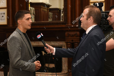 Lee Selby is interviewed during a Press Conference at the Landmark London Hotel on 30th October 2017