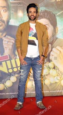 "Stock Picture of Bollywood Actor Tusshar Kapoor during the trailer launch of movie ""Golmaal Again' at PVR ICON, Andheri"