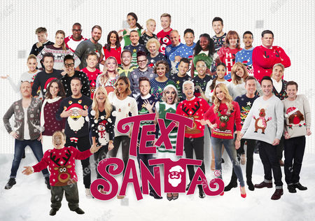 Stock Picture of Back row: Louise Hazel, Jayne Torvill, Christopher Dean and Carl Froch. Third row: Gordon Ramsay, Gemma Atkinson, Ugo Monye, Brian McFadden, Andrea McClean, Bradley Walsh, Denise Robertson, Rob Rinder, Ryan Thomas, Jamelia, Coleen Nolan, Chris Kamara and The Beast. Second Row: Kimberly Wyatt, Gino D'Acampo, Gok Wan, Ben Shephard, Laura Whitmore, Joe Swash, David Morgan, Michelle Keegan, Mark Wright, Marvin Humes, Rochelle Humes, Kate Garraway and Jim Carter. First row: Keith Lemon, Christine Lampard, Paddy McGuinness, Alesha Dixon, Olly Murs, Caroline Flack, Phillip Schofield, Amanda Holden, Stephen Mulhearn and Ant & Dec. Front: Warwick Davis