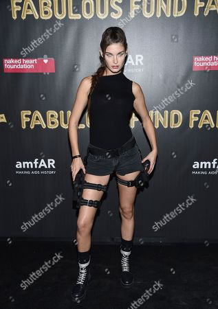 Ophelie Guillermand attends the Fabulous Fund Fair, hosted by the Naked Heart Foundation and amfAR, at Skylight Clarkson North, in New York