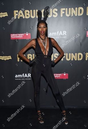Model Jessica White attends the Fabulous Fund Fair, hosted by the Naked Heart Foundation and amfAR, at Skylight Clarkson North, in New York