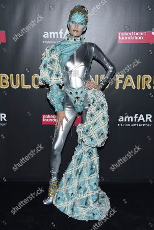 Alla Kostromichova attends the Fabulous Fund Fair, hosted by the Naked Heart Foundation and amfAR, at Skylight Clarkson North, in New York