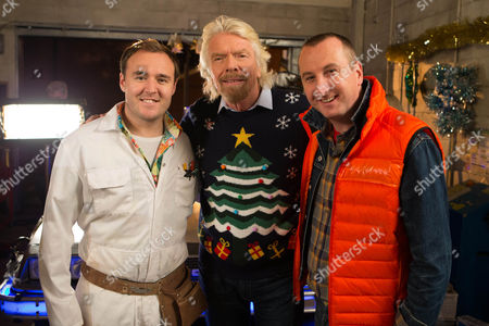 Tyrone (Alan Halsall), Sir Richard Branson and Kirk (Andrew Whyment)