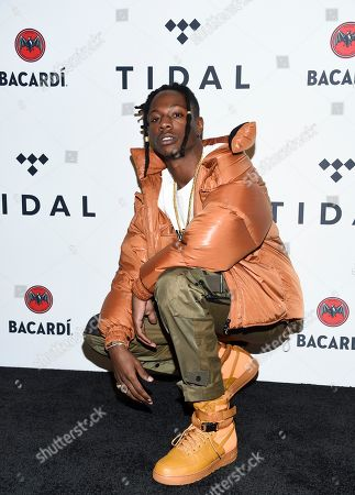 Stock Picture of Jo-Vaughn Virginie Scott aka Joey Bada$ attends the TIDAL X: Brooklyn 3rd Annual Benefit Concert at The Barclays Center, in New York