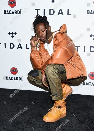 Jo-Vaughn Virginie Scott aka Joey Bada$$ attends the TIDAL X: Brooklyn 3rd Annual Benefit Concert at The Barclays Center, in New York