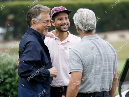 Joe Mantegna, Adam Rodriguez, Gregory Harrison. Joe Mantegna, from left, Adam Rodriguez, and Gregory Harrison at the 18th Annual Emmys Golf Classic presented by the Television Academy Foundation at the Wilshire Country Club, in Los Angeles, Calif