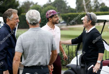 Joe Mantegna, Gregory Harrison, Adam Rodriguez, Carlos Bernard. Joe Mantegna, from left, Gregory Harrison, Adam Rodriguez, and Carlos Bernard at the 18th Annual Emmys Golf Classic presented by the Television Academy Foundation at the Wilshire Country Club, in Los Angeles, Calif