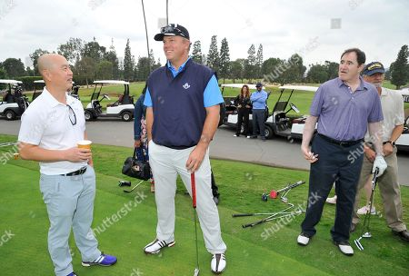 Stock Photo of C. S. Lee, Adam Baldwin, Richard Kind. C. S. Lee, from left, Adam Baldwin, and Richard Kind attend the 18th Annual Emmys Golf Classic presented by the Television Academy Foundation at the Wilshire Country Club, in Los Angeles, Calif