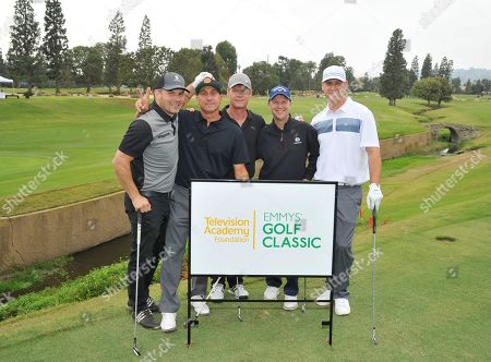 Alan Cruciani, Vince Scandone, Joel Gretsch, John Collis, Eric Smith. Alan Cruciani, from left, Vince Scandone, Joel Gretsch, John Collis, and Eric Smith attend the 18th Annual Emmys Golf Classic presented by the Television Academy Foundation at the Wilshire Country Club, in Los Angeles, Calif