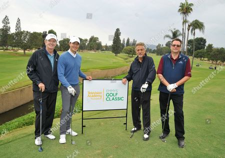 Stock Photo of Dick Askin, Daniel Henney, Joe Mantegna, Dan Ramm. Dick Askin, from left, Daniel Henney, Joe Mantegna, and Dan Ramm attend the 18th Annual Emmys Golf Classic presented by the Television Academy Foundation at the Wilshire Country Club, in Los Angeles, Calif