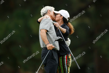 Gregory Harrison, Paula Trickey. Gregory Harrison, left, and Paula Trickey at the 18th Annual Emmys Golf Classic presented by the Television Academy Foundation at the Wilshire Country Club, in Los Angeles, Calif