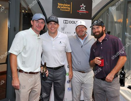 Stock Picture of Jason Hodge, Chris Atkinson, Bill Jesel, Jay Sanders. Jason Hodge, from left, Chris Atkinson, Bill Jesel, and Jay Sanders attend the 18th Annual Emmys Golf Classic presented by the Television Academy Foundation at the Wilshire Country Club, in Los Angeles, Calif