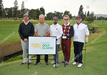 Jeremy Adell, Gregory Harrison, Jerry DiCanio, Richard Ross, Richard Winnie. Jeremy Adell, from left, Gregory Harrison, Jerry DiCanio, Richard Ross, and Richard Winnie attend the 18th Annual Emmys Golf Classic presented by the Television Academy Foundation at the Wilshire Country Club, in Los Angeles, Calif