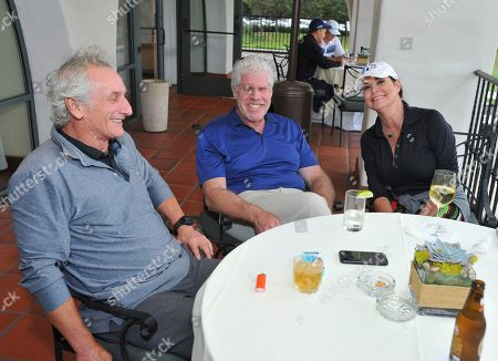 Stock Picture of Matt Craven, Ron Perlman, Paula Trickey. Matt Craven, from left, Ron Perlman, and Paula Trickey at the 18th Annual Emmys Golf Classic presented by the Television Academy Foundation at the Wilshire Country Club, in Los Angeles, Calif