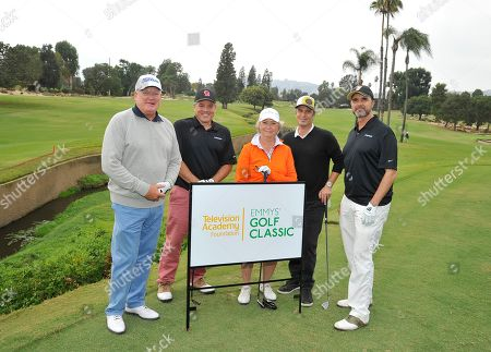 Michael Proctor, Chris Buchanan, Mary Hamilton, Carlos Bernard, Steven Smith. Michael Proctor, from left, Chris Buchanan, Mary Hamilton, Carlos Bernard, and Steven Smith attend the 18th Annual Emmys Golf Classic presented by the Television Academy Foundation at the Wilshire Country Club, in Los Angeles, Calif