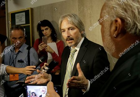 Matt Gonzalez, chief attorney of the San Francisco Public Defender's Office, speaks to reporters at a courthouse in San Francisco. The bullet that killed Kate Steinle two years ago ricocheted off the ground about 100 yards away before hitting her in the back and later launching a criminal case at the center of a national immigration debate. Lawyers for Jose Ines Garcia Zarate argue that the ricochet shows the shooting was accidental