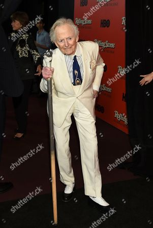 "Stock Photo of Author Tom Wolfe attends the premiere of ""Rolling Stone: Stories From The Edge"" at Florence Gould Hall, in New York"