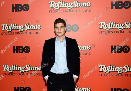 """Wenner Media president and CEO Gus Wenner attends the premiere of """"Rolling Stone: Stories From The Edge"""" at Florence Gould Hall, in New York"""