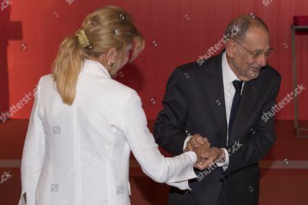 Carmen Von Thyssen-Bornemisza, Baroness Thyssen and Josep Borrell