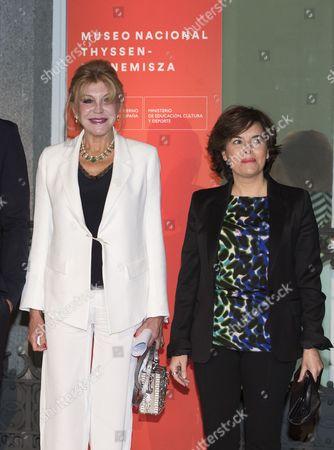 Carmen Von Thyssen-Bornemisza, Baroness Thyssen and Minister of the Presidency, Soraya Saenz de Santamaria