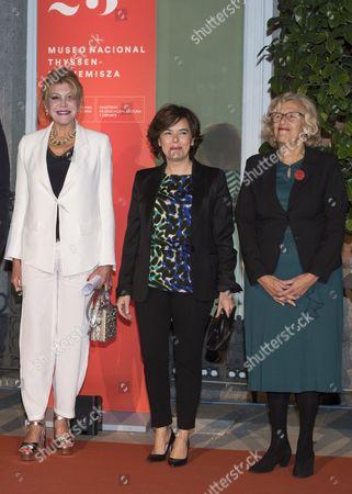 Carmen Von Thyssen-Bornemisza, Baroness Thyssen; Minister of the Presidency, Soraya Saenz de Santamaria and Manuela Carmena
