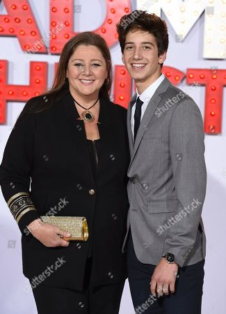 """Stock Picture of Camryn Manheim, Milo Jacob Manheim. Camryn Manheim, left, and Milo Jacob Manheim arrive at the Los Angeles premiere of """"A Bad Moms Christmas"""" at the Regency Village Theater on"""