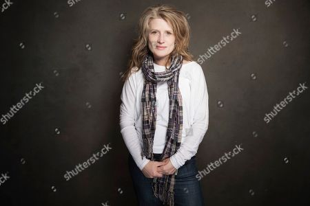 Cynthia Hill poses for a portrait at Quaker Good Energy Lodge with GenArt and the Collective, during the Sundance Film Festival, on in Park City, Utah