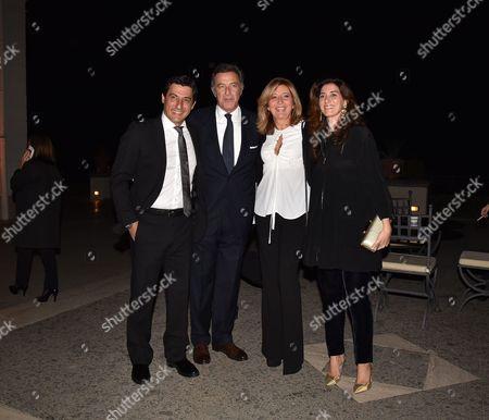 Emilio Solfrizzi with Renata Luca Barbareschi with his wife Elena Monorchio