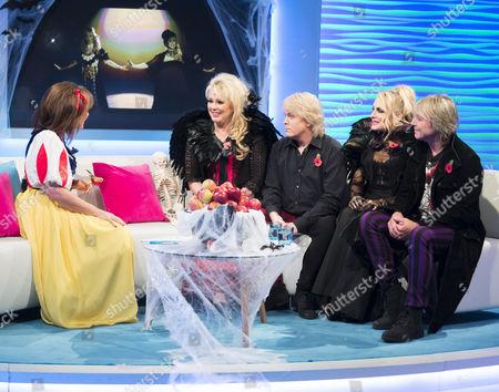 Lorraine Kelly, The Fizz - Cheryl Bake, Mike Nolan, Jay Aston, Bobby McVay