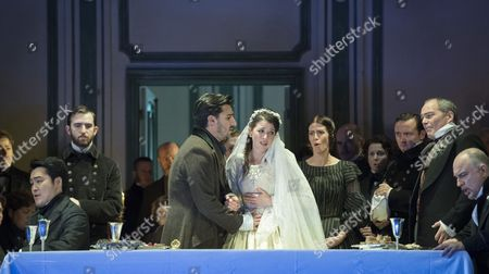 Editorial photo of 'Lucia di Lammermoor' Opera performed at the Royal Opera House, London, UK, 30 Oct 2017
