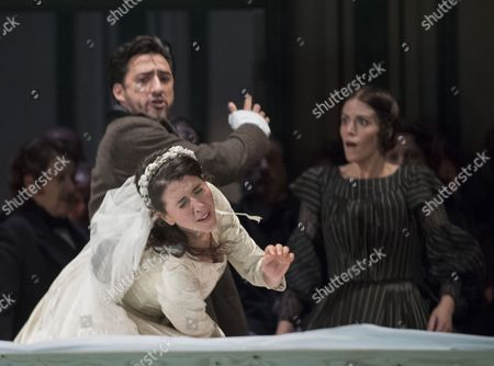 Editorial picture of 'Lucia di Lammermoor' Opera performed at the Royal Opera House, London, UK, 30 Oct 2017