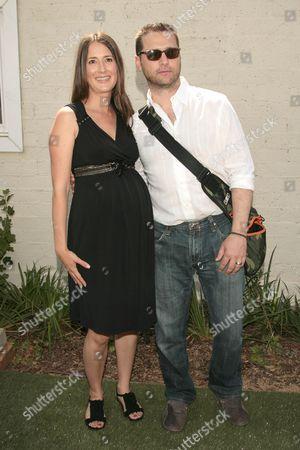 Anna Getty and Jason Priestley