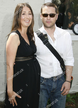Anna Getty and Jason Priestly