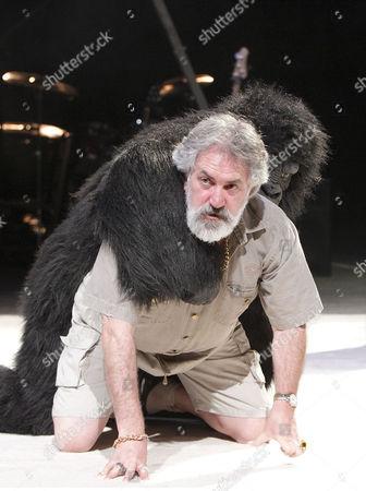Stock Picture of 'Peer Gynt' - Gerry Mulgrew (Old Peer) with gorilla