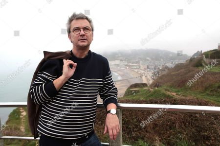 Editorial image of Marc Villemain, author, Etretat, France - 26 Oct 2017