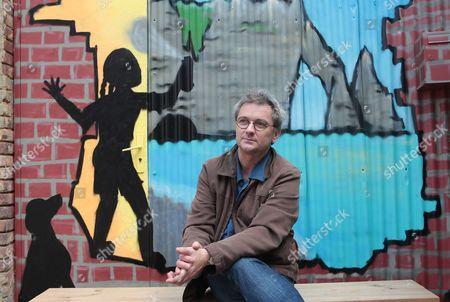 Editorial photo of Marc Villemain, author, Etretat, France - 27 Oct 2017