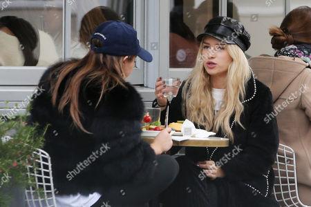 Lottie Moss having lunch in Notting Hill with Mimi Bouchard