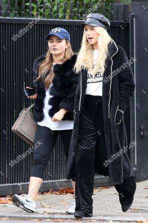 Mimi Bouchard and Lottie Moss in Notting Hill