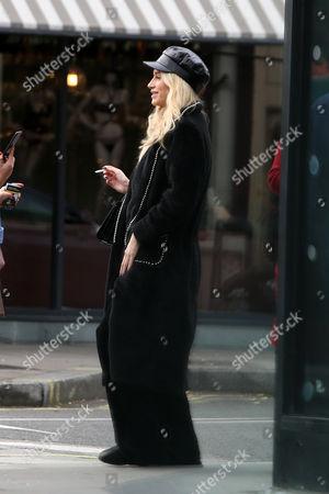 Lottie Moss smoking in Notting Hill