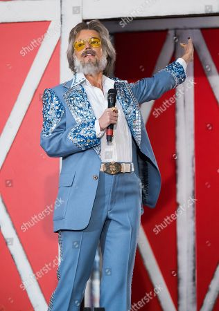 """Stock Image of Savannah Guthrie dresses as Kenny Rogers during NBC's """"Today"""" show Halloween special at Rockefeller Plaza, in New York"""