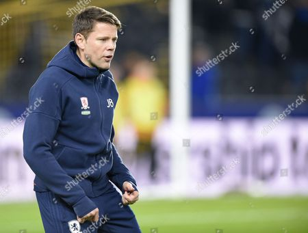 Part of Middlesbroughs Coaching team James Beattie