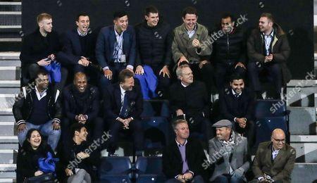 Very Happy QPR Directors Box including Les Ferdinand and Tony Fernandes