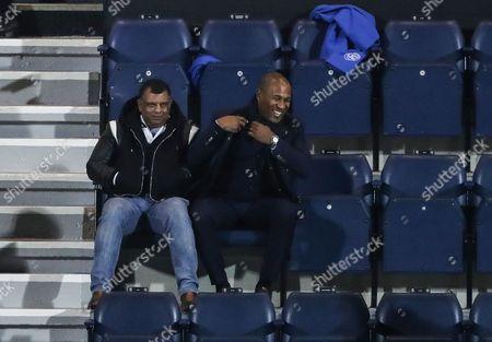 Happy Les Ferdinand and Tony Fernandes