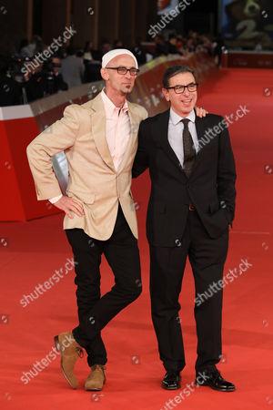Stock Image of Chuck Palahniuk and Antonio Monda