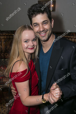 Clare Louise Connolly (Regan) and Adam Garcia (Father Damien Karras)