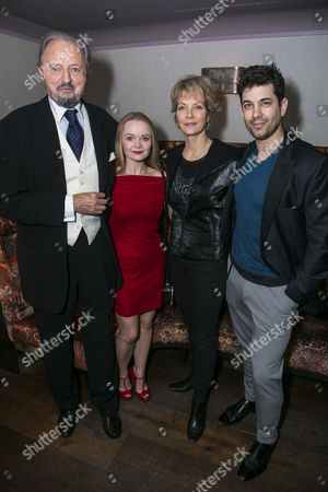 Peter Bowles (Father Lankester Merrin), Clare Louise Connolly (Regan), Jenny Seagrove (Chris MacNeil) and Adam Garcia (Father Damien Karras)